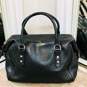 Kate Spade ♠️ Black Pebbled Leather Satchel Bag